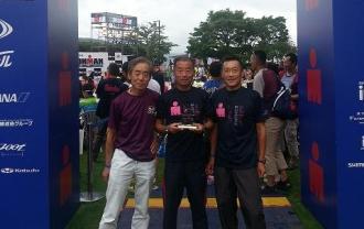 2014アイアンマンジャパン北海道を完走したやんちゃオヤジトリオ!