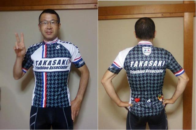 新調した高トラ・ジャージを家で試着する背中で語るバイク職人M井さん!