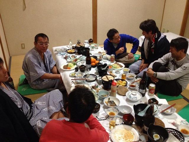 2013年高崎市トライアスロン協会忘年会の風景