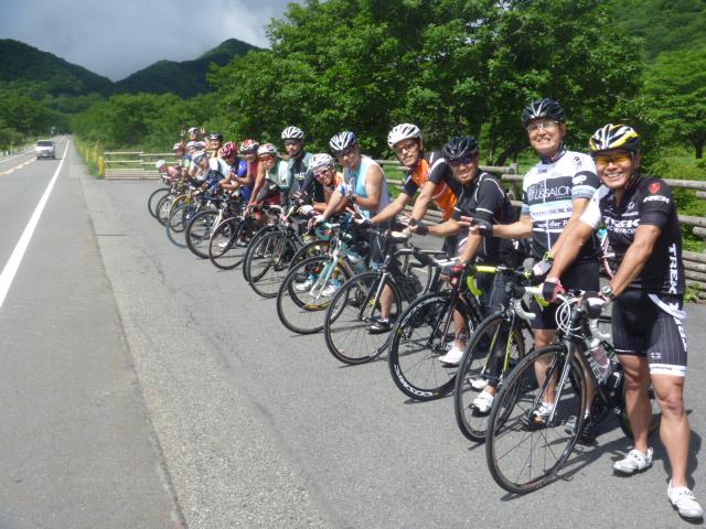 チャレンジはるトラ榛名湖合宿バイク集合写真