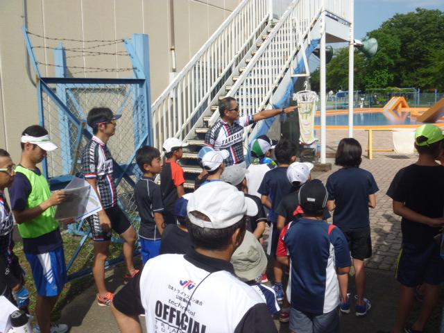 2014高崎子供トライアスロン大会前のスイム会場説明!