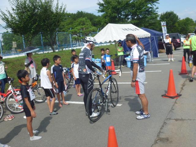 2014高崎子供トライアスロン大会前のバイク乗車説明!