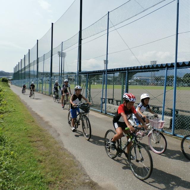 2014高崎子供トライアスロン大会前のバイクコース試走!