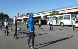 群馬県の高崎市トライアスロン協会主催の2013/11/23(土)1期第1回チャレンジはるトラの練習風景