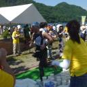 群馬県の高崎市トライアスロン協会の2014/07/27(日)第2回榛名リゾートトライアスロンin群馬のエイド運営風景