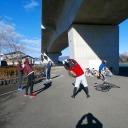 群馬の高崎市トライアスロン協会主催の2013/12/21(土) 1期第2回チャレンジはるトラの練習風景