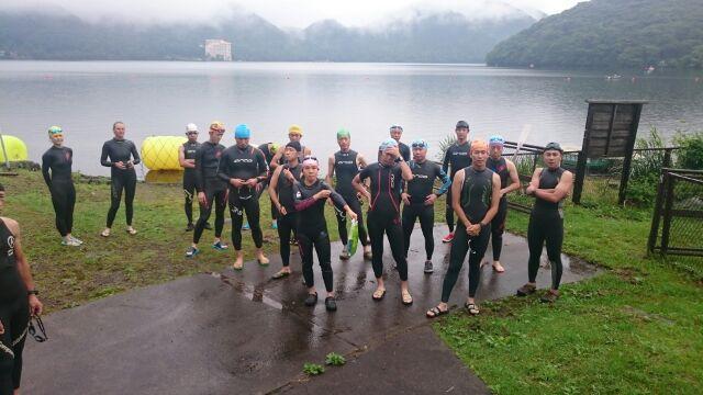 2015 はるトラ前の榛名湖試泳会