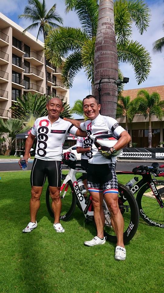 ハワイ大会前にシーポの田中社長と記念写真