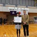 群馬県トライアスロン協会理事長であり高トラの特別顧問である小平さんと撮影