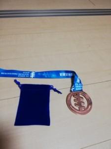 2019ITU世界トライアスロンシリーズ参戦記メダル